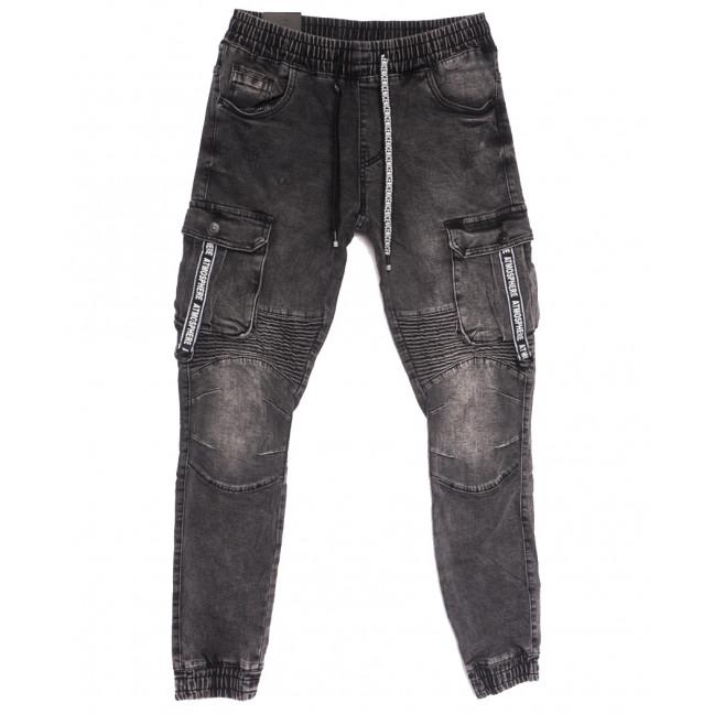 20023 Viman джинсы мужские на резинке серые осенние стрейчевые (30-38, 5 ед.) Viman: артикул 1111402