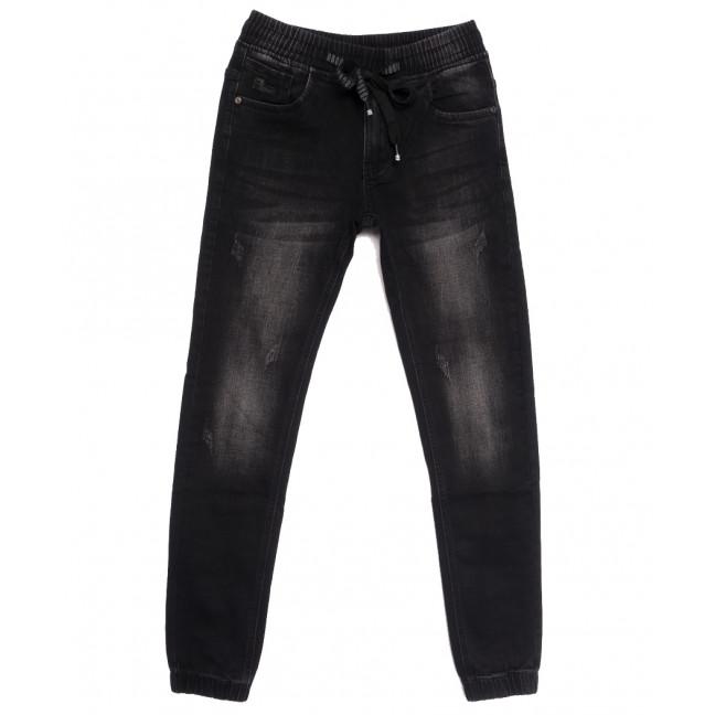 1528 Bagrbo джинсы мужские молодежные на резинке с царапками серые осенние стрейчевые (28-36, 8 ед.) Bagrbo: артикул 1111449