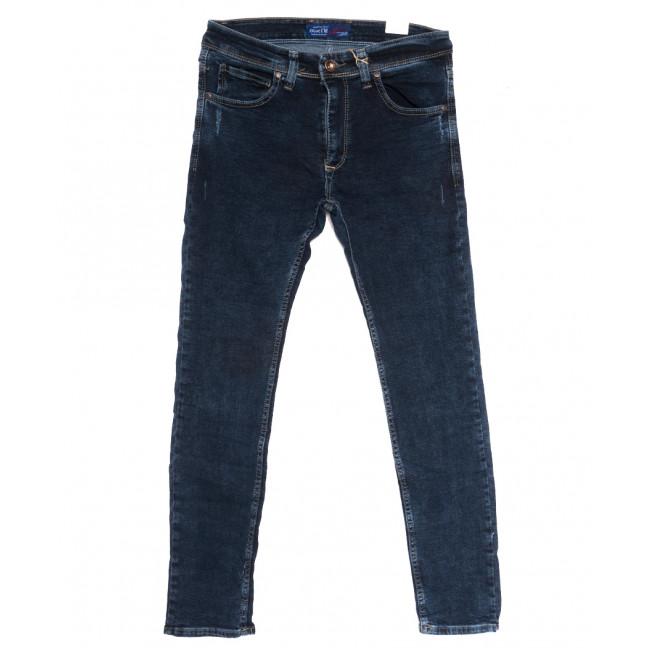 7016 Blue Nil джинсы мужские полубатальные с царапками синие осенние стрейчевые (32-40, 8 ед.) Blue Nil: артикул 1111717