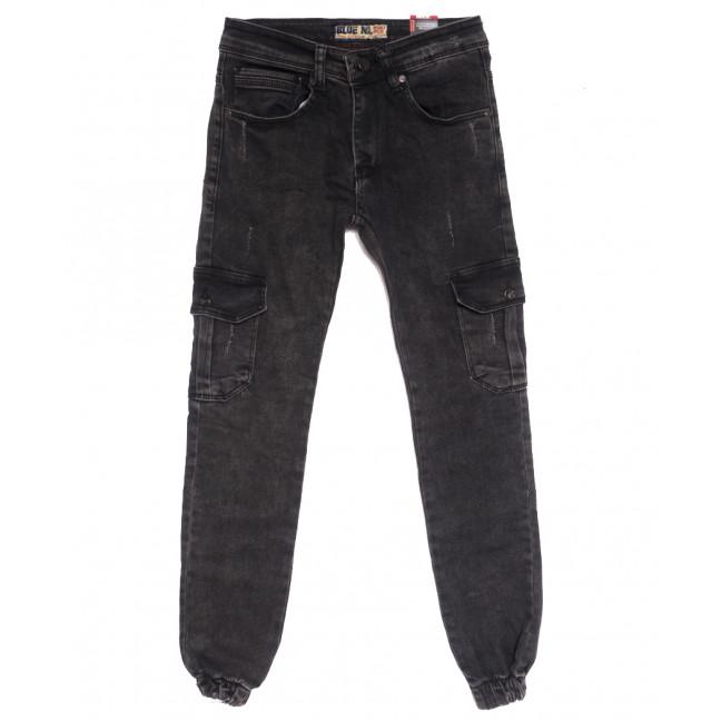 7100 Blue Nil джинсы мужские молодежные на резинке с царапками серые осенние стрейчевые (27-32, 8 ед.) Blue Nil: артикул 1111710