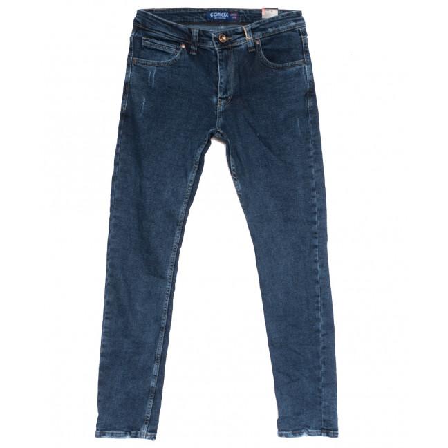 7077 Corcix джинсы мужские полубатальные с царапками синие осенние стрейчевые (32-40, 8 ед.) Corcix: артикул 1111713