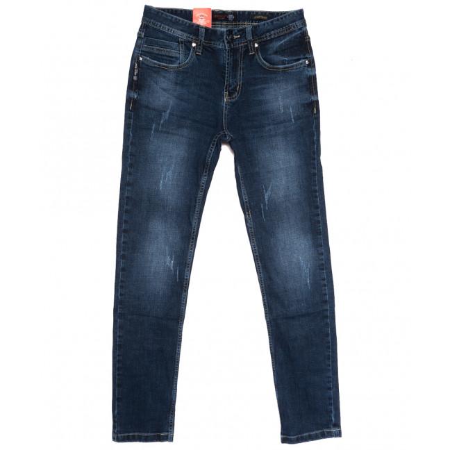 0910-3 R Relucky джинсы мужские молодежные с царапками синие осенние стрейчевые (28-36, 8 ед.) Relucky: артикул 1111631