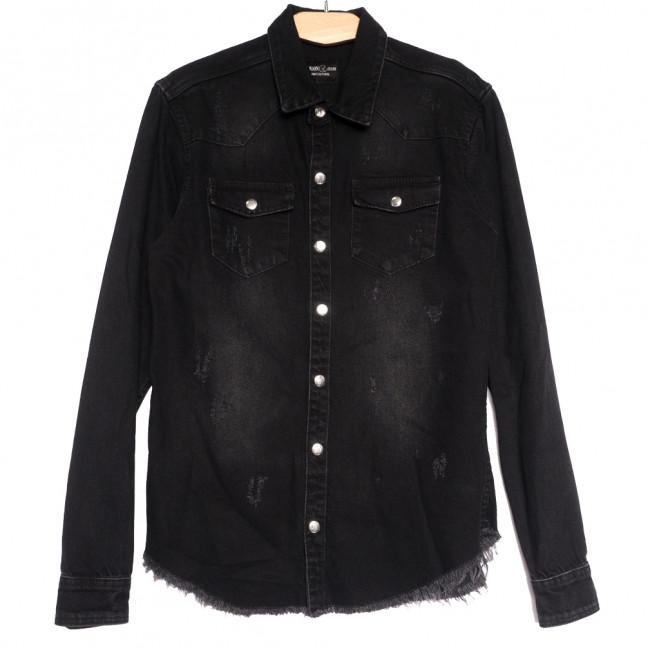 0467 Redmoon рубашка джинсовая мужская с царапками черная осенняя коттоновая (S-XL, 4 ед.) REDMOON: артикул 1111745
