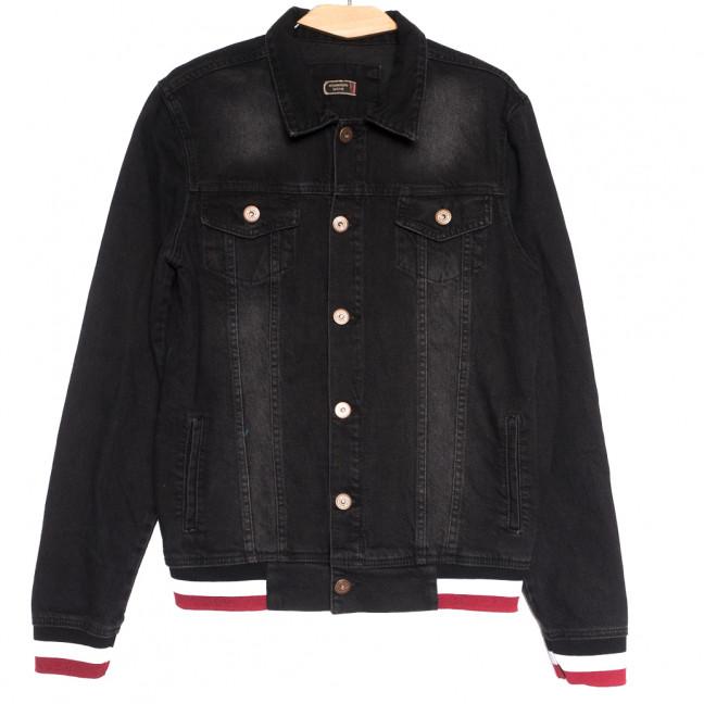 0371 Redmoon куртка джинсовая мужская темно-серая осенняя коттоновая (S-XL, 4 ед.) REDMOON: артикул 1111726