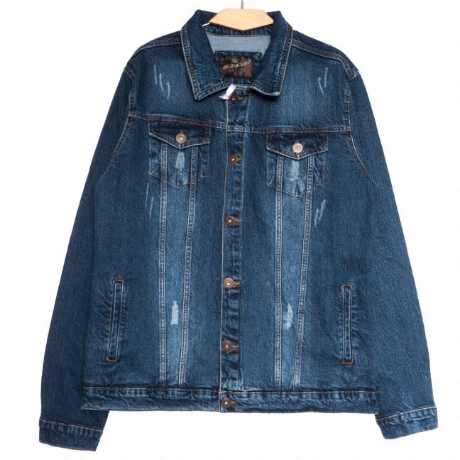 0510 темно-синяя Redmoon куртка джинсовая мужская c царапками осенняя коттоновая (XL-4XL, 4 ед.) REDMOON: артикул 1111732