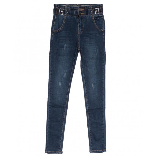 0519 New jeans джинсы женские на резинке с царапками синие осенние стрейчевые (25-30, 6 ед.) New Jeans: артикул 1111655
