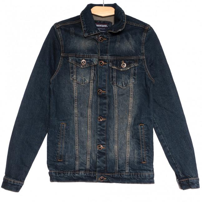 0607 темно-синяя Redmoon куртка джинсовая мужская с царапками осенняя коттоновая (S-XL, 4 ед.) REDMOON: артикул 1111731
