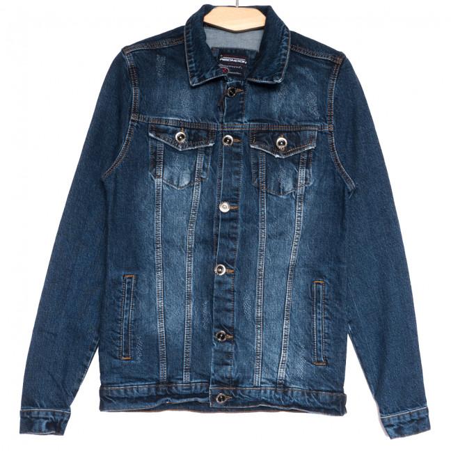 0607 синяя Redmoon куртка джинсовая мужская с царапками осенняя коттоновая (S-XL, 4 ед.) REDMOON: артикул 1111730
