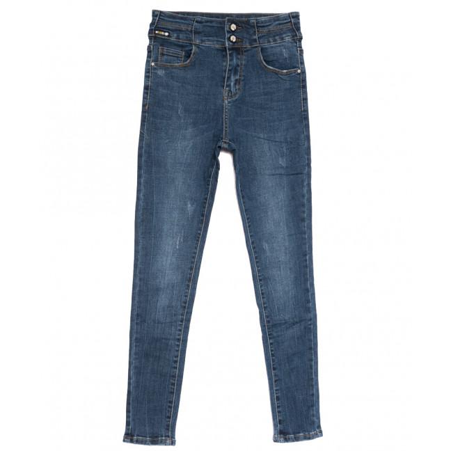 0552 New jeans американка с царапками синяя осенняя стрейчевая (25-30, 6 ед.) New Jeans: артикул 1111666
