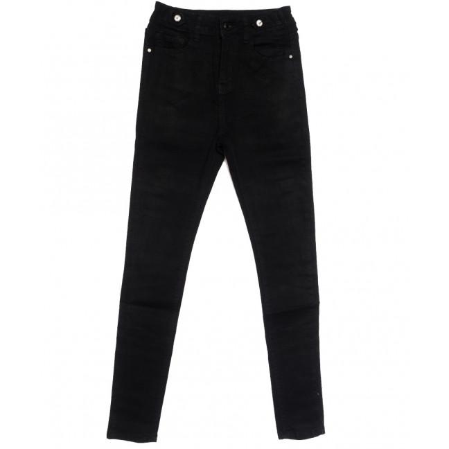 0540 New jeans американка черная осенняя стрейчевая (25-30, 6 ед.) New Jeans: артикул 1111687