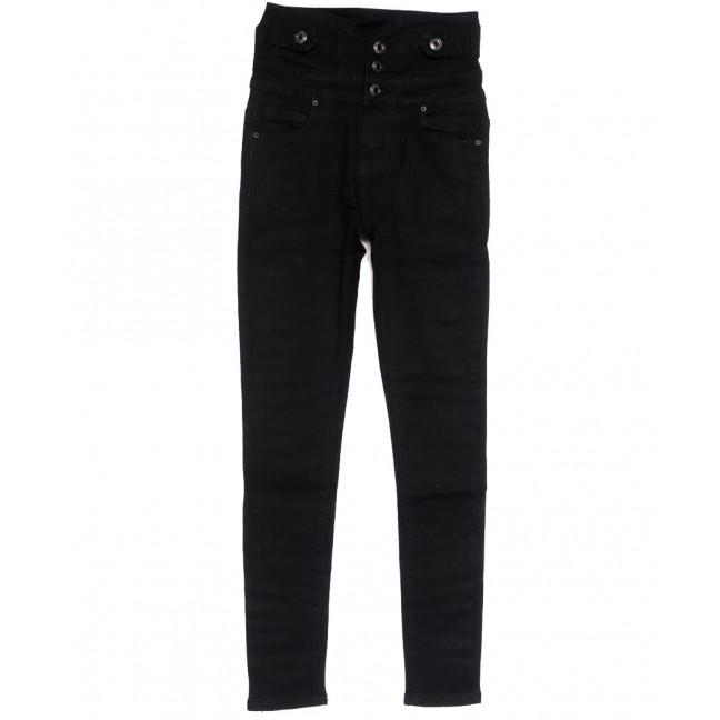 0539 New jeans американка на пуговицах черная осенняя стрейчевая (25-30, 6 ед.) New Jeans: артикул 1111679