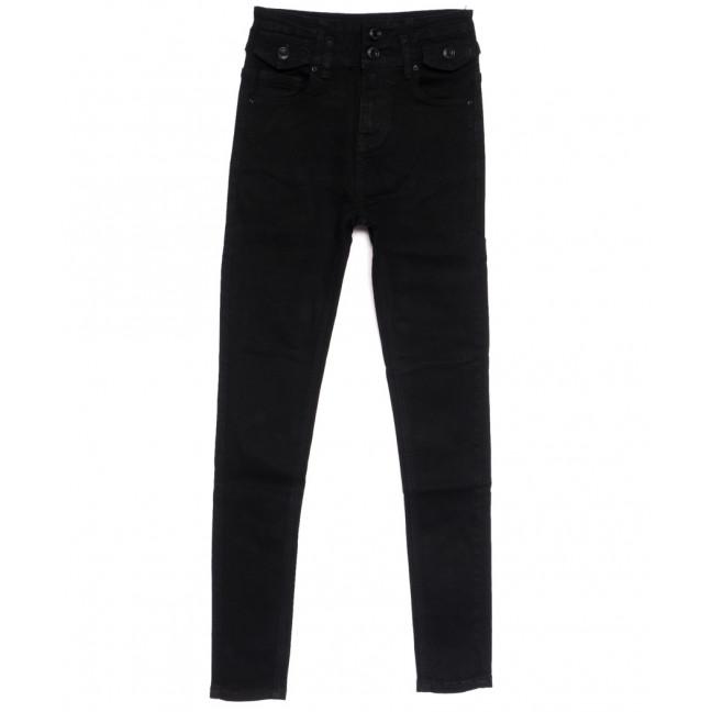 0535 New jeans американка черная осенняя стрейчевая (25-30, 6 ед.) New Jeans: артикул 1111686