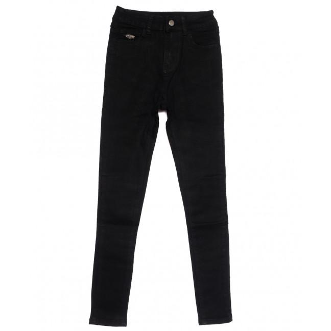 0504 New jeans американка черная осенняя стрейчевая (25-30, 6 ед.) New Jeans: артикул 1111688