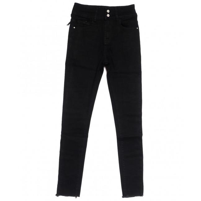 0541 New jeans американка черная осенняя стрейчевая (25-30, 6 ед.) New Jeans: артикул 1111681