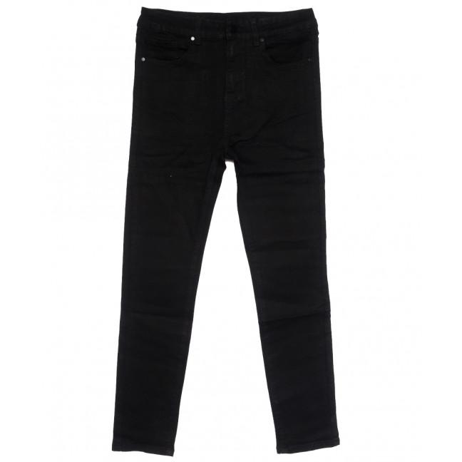 0546 New jeans американка батальная черная осенняя стрейчевая (31-36, 6 ед.) New Jeans: артикул 1111694