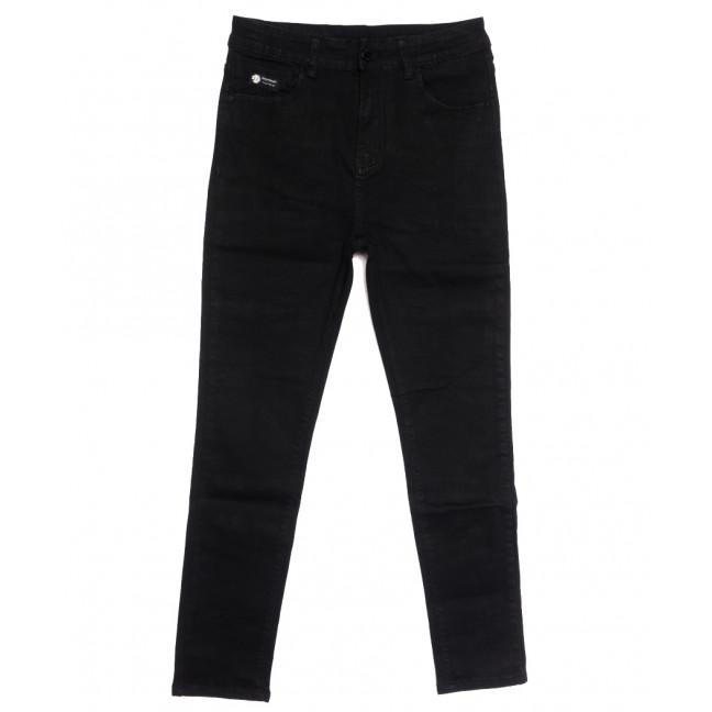 0506 New jeans американка батальная черная осенняя стрейчевая (31-36, 6 ед.) New Jeans: артикул 1111695