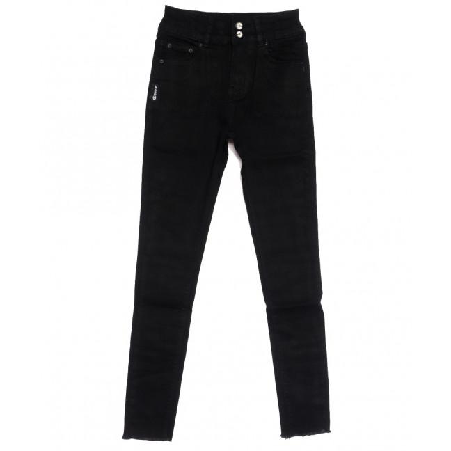 0537 New jeans американка черная осенняя стрейчевая (25-30, 6 ед.) New Jeans: артикул 1111685
