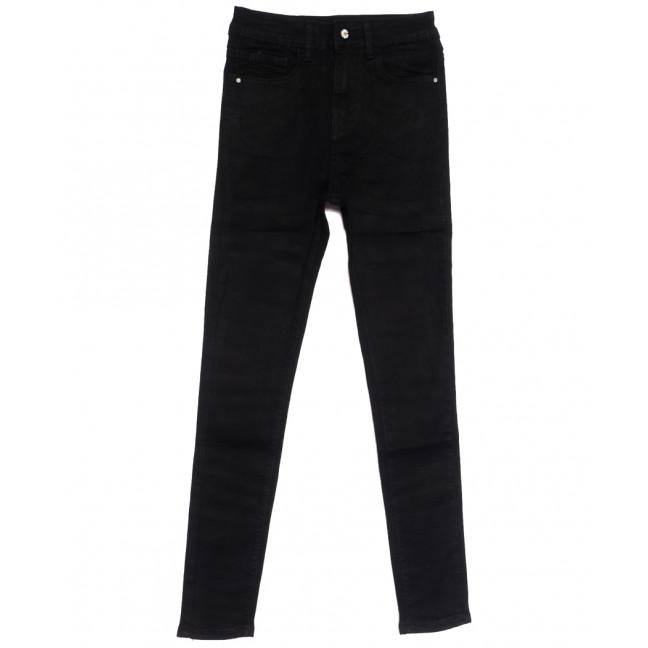 0542 New jeans американка черная осенняя стрейчевая (25-30, 6 ед.) New Jeans: артикул 1111684