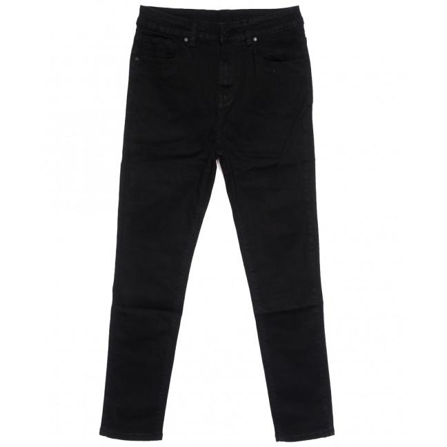 0507 New jeans американка батальная черная осенняя стрейчевая (31-36, 6 ед.) New Jeans: артикул 1111704