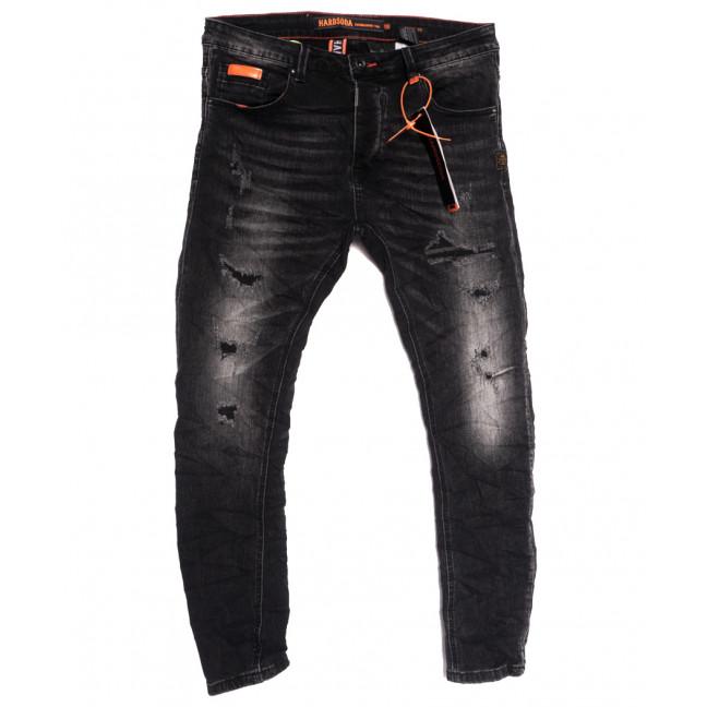 2254 Hardsoda Jeans джинсы мужские с рванкой темно-серые осенние стрейчевые (29-36, 5 ед.) Hardsoda Jeans: артикул 1111954
