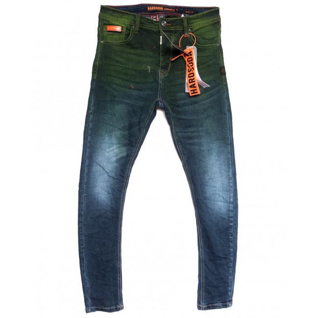 2251 Hardsoda Jeans джинсы мужские зауженные синие осенние стрейчевые (30-38, 5 ед.) Hardsoda Jeans: артикул 1111953
