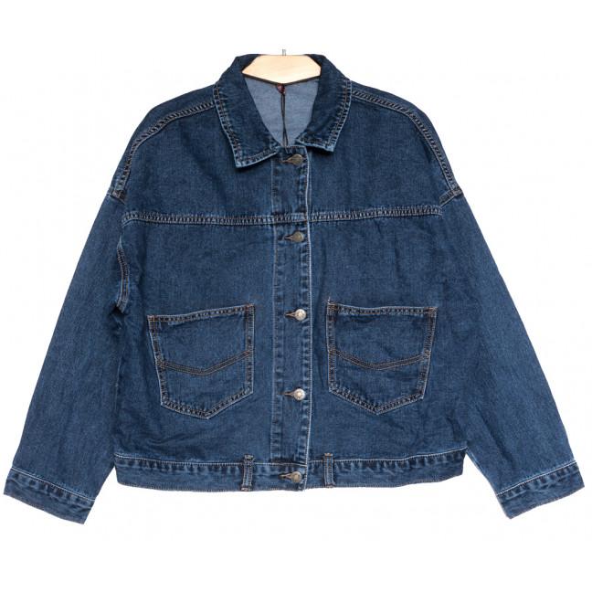 0817 Vanver куртка джинсовая женская синяя осенняя коттоновая (L-XL, 5 ед.) Vanver: артикул 1111839