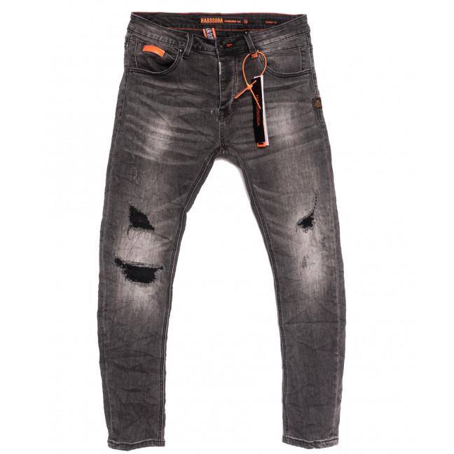 2256 Hardsoda Jeans джинсы мужские с рванкой серые осенние стрейчевые (30-38, 5 ед.) Hardsoda Jeans: артикул 1111961