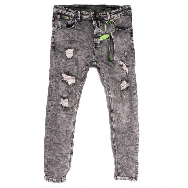 2229 Hardsoda Jeans джинсы мужские с рванкой серые осенние стрейчевые (30-38, 5 ед.) Hardsoda Jeans: артикул 1111957