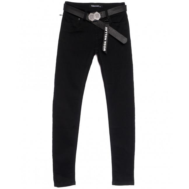 81082 Vanver джинсы женские черные осенние стрейчевые (25-30, 6 ед.) Vanver: артикул 1111991