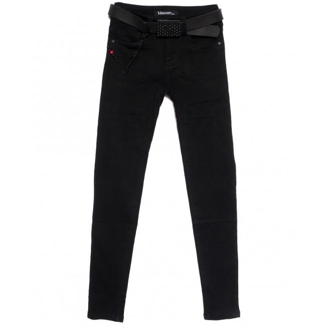 81085 Vanver джинсы женские черные осенние стрейчевые (25-30, 6 ед.) Vanver: артикул 1111994