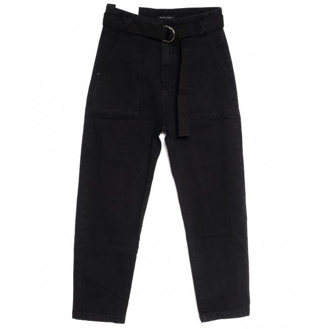 7704 Saint Wish джинсы-баллон черные осенние стрейчевые (25-30, 6 ед.) Saint Wish: артикул 1112011