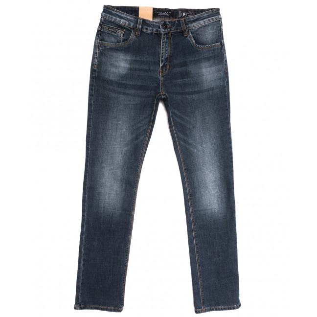 2292 Fang джинсы мужские полубатальные синие осенние стрейчевые (32-38, 8 ед.) Fang: артикул 1112092