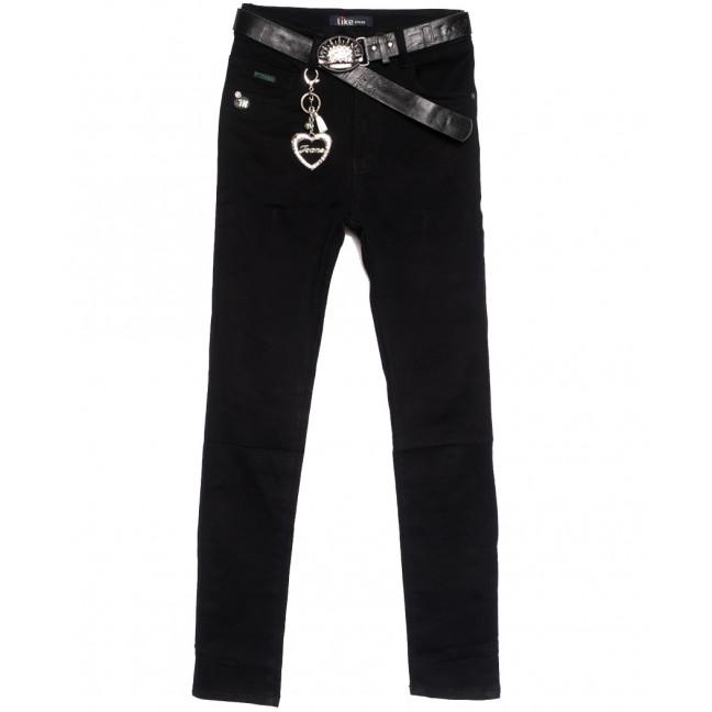 6241-2 Like джинсы женские полубатальные черные осенние стрейчевые (28-33, 6 ед.) Like: артикул 1112103