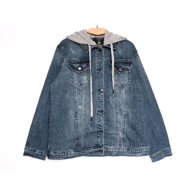 3049 Dimarkis Day куртка джинсовая женская с царапками синяя осенняя стрейчевая (XL-6XL, 6 ед.) Dimarkis Day: артикул 1112224
