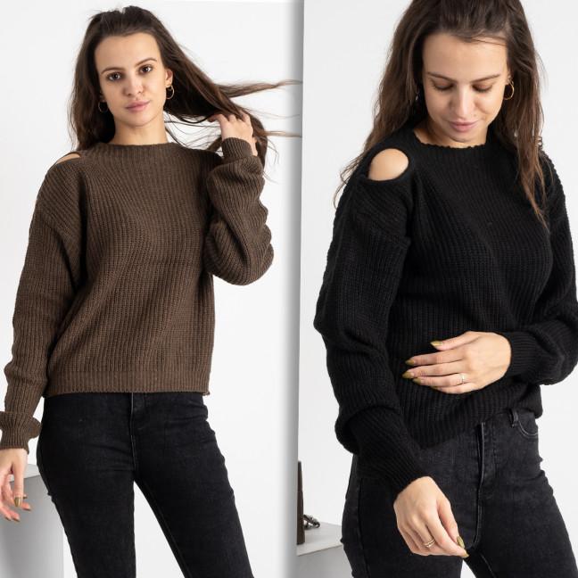 1618-1 свитер женский микс  двух цветов (3 ед. размеры: универсал 42-46) Свитер: артикул 1125438