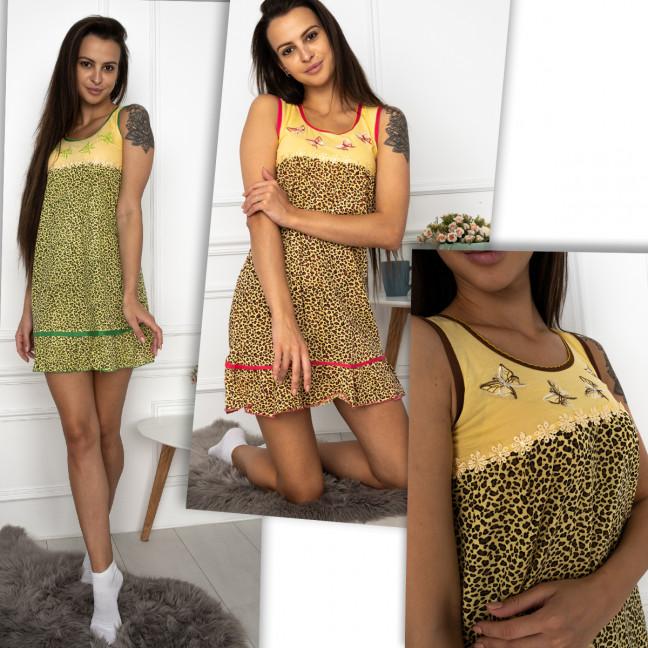 7786 D&L ночнушка юниор хлопковая леопардовая микс цветов (5 ед. размеры: 36-44) D&L: артикул 1124279