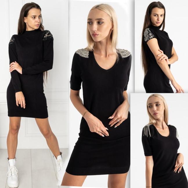 5776 черное платье с декоративными элементами микс моделей (5 ед.размеры: универсал 46-48 ) Платье: артикул 1124218