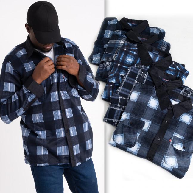 16116  мужская рубашка полубатальная на байке микс цветов (5 ед .размеры: 2XL.3XL.4XL.5XL.6XL) Рубашка: артикул 1124878