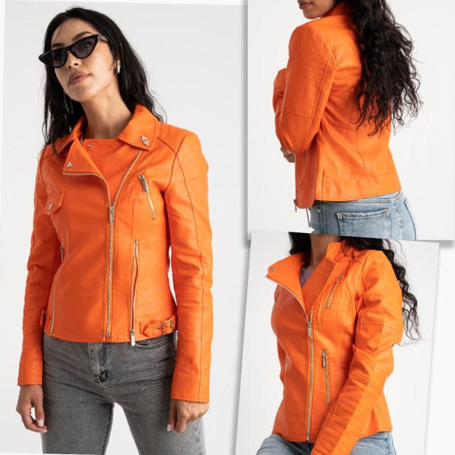 0060-99 оранжевая куртка женская из экокожи микс моделей (5 ед.размеры: S-XXL) MZX: артикул 1124003