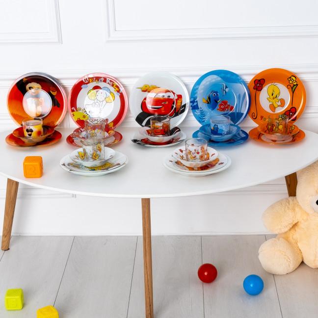 6002 комплект детской посуды из 4-х предметов микс расцветок (5 ед.)  Комплект детской посуды: артикул 1124853