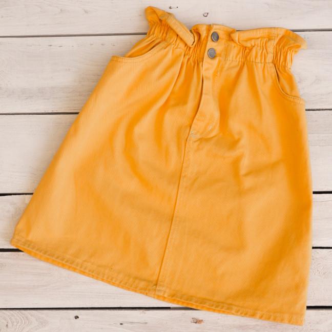 34413-8 жёлтая Defile юбка джинсовая весенняя коттоновая (34-40,евро, 7 ед.) Defile: артикул 1110704