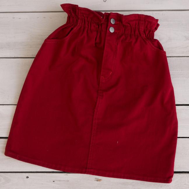34413-6 бордовая Defile юбка джинсовая весенняя коттоновая (34-40,евро, 7 ед.) Defile: артикул 1110706