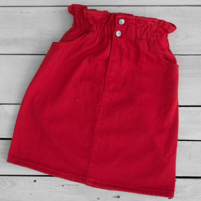 34413-9 красная Defile юбка джинсовая весенняя коттоновая (34-40,евро, 7 ед.) Defile: артикул 1110703